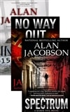 Jacobson, Alan - The Karen Vail Trilogy Vol. 2 w/ Slipcase: Inmate 1577, No Way Out, Spectrum (Signed First Edition LTD)