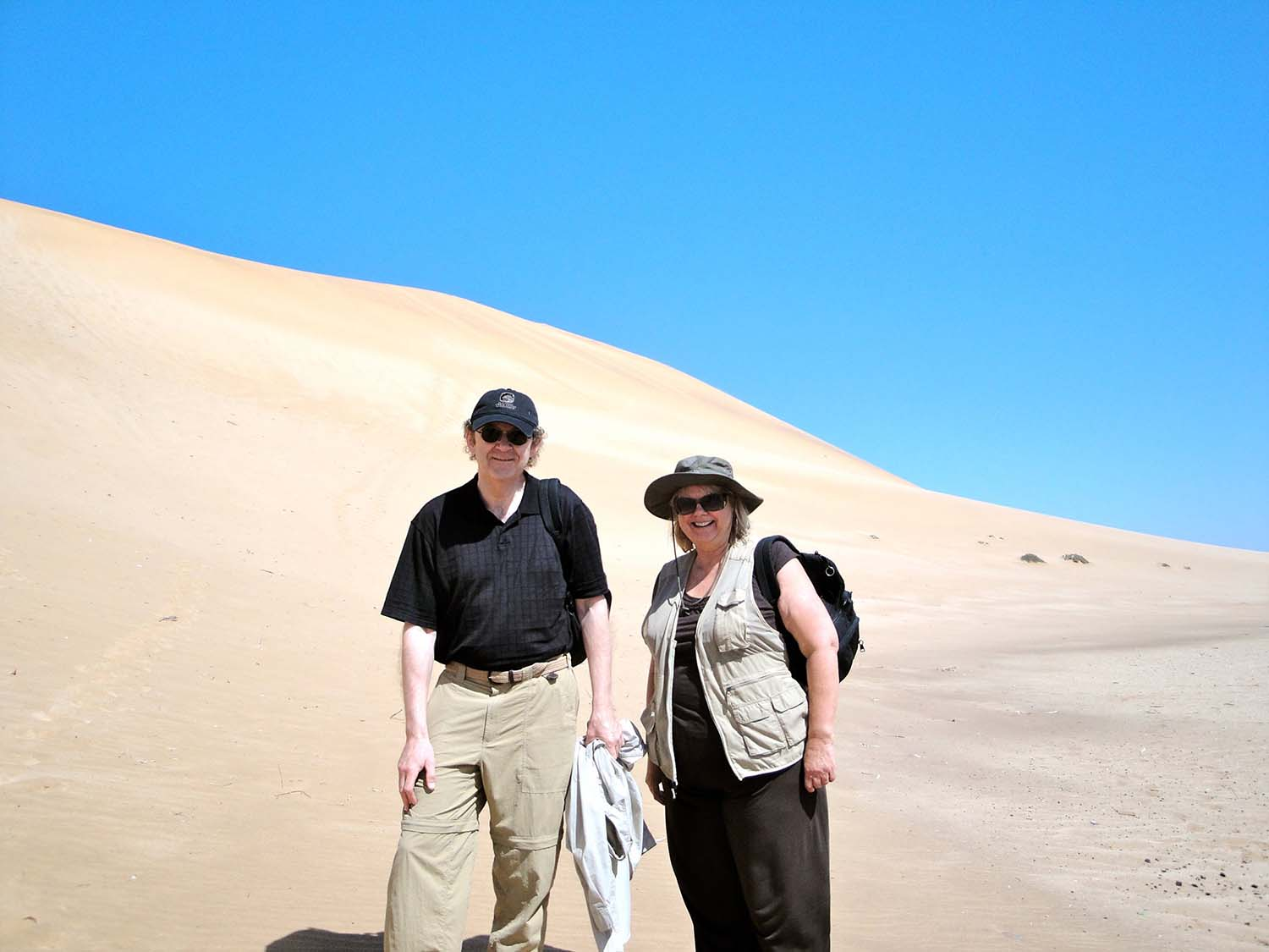 Brian & his wife in Nambia