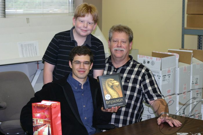 Christopher Paolini with John and Mitch