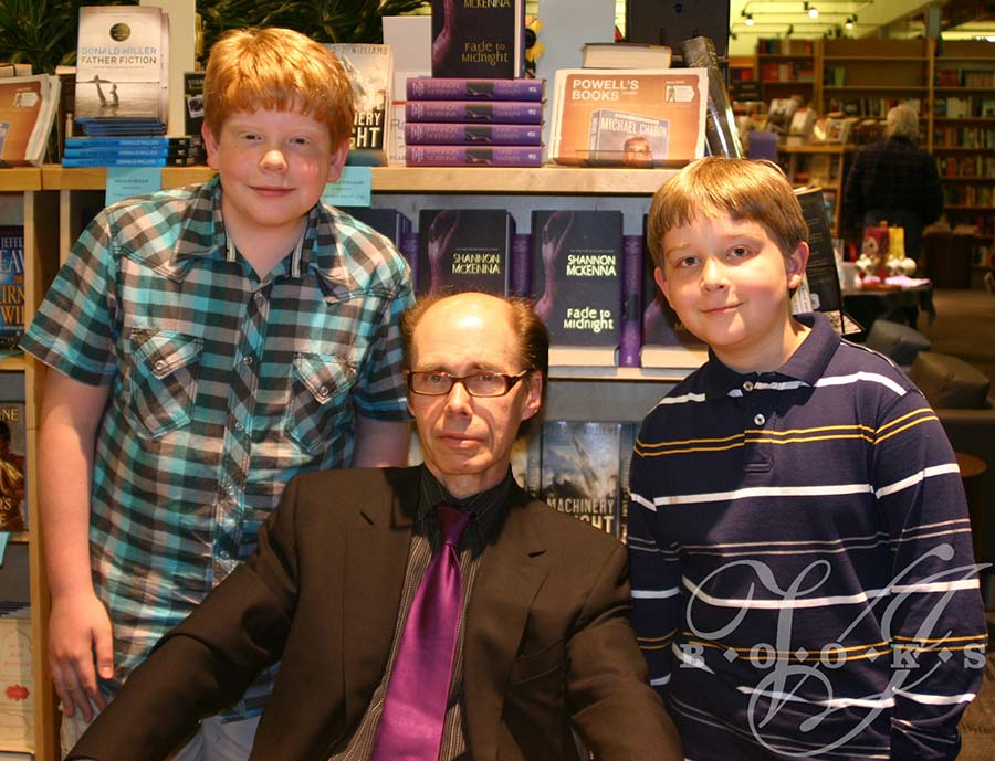Jeffery Deaver with Mitchell and Evan