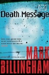 Death Message | Billingham, Mark | Signed First Edition Book
