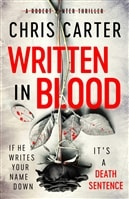 Carter, Chris | Written in Blood | Signed UK First Edition Book