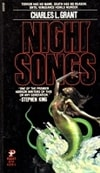 Night Songs | Grant, Charles | 1st Edition Mass Market Paperback UK Book